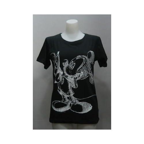 (ディズニー) Disney Tシャツ ミッキーマウス イラスト レディース 305 フリー 黒