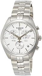 Tissot Men's 'PR 100' Swiss Quartz Stainless Steel Dress Watch, Color:Silver-Toned (Model: T1014171103100)