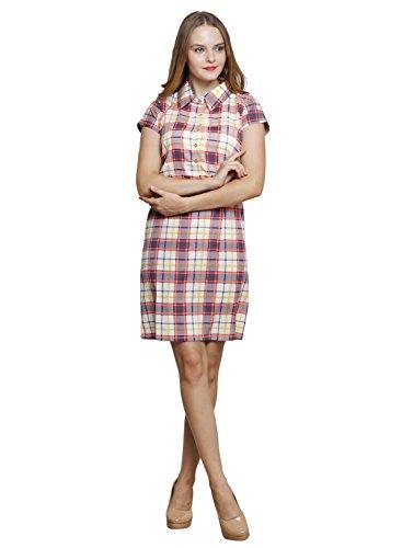 LEBE-Womens-Multicolor-A-line-Dress