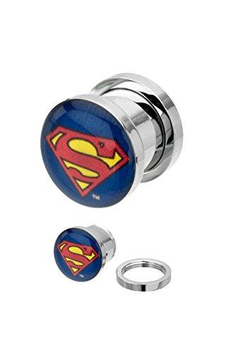 Picture Plug, Logo Superman classico Steel, 8 mm, colore: 8mm, cod. IC102488-0002