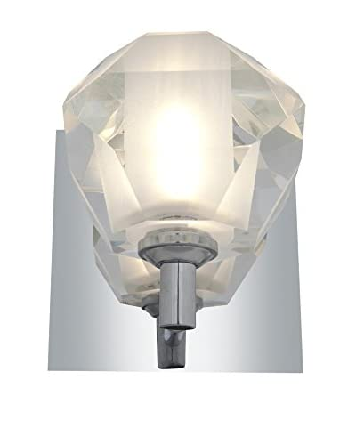 Access Lighting Glas_e 1-Light Sconce, Chrome/Frosted Clear