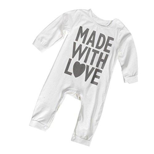 Infant Baby Boy Girl Winter Romper Jumpsuit Bodysuit Cotton Clothes - SUPPION (3-6M)