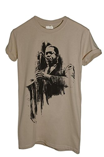 T-Shirt CHARLIE PARKER BIRD - MUSIC by iMage Dress Your Style - Uomo-S-SABBIA