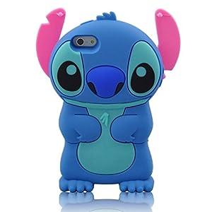 GAOJX iPhone SE Case,iPhone 5s Case,iPhone 5s Stitch Case,3D Cute Cartoon Lilo Stitch Movable Ear Flip Stitch Silicon Gel Rubber Case Cover For iPhone SE 5 5S at Gotham City Store