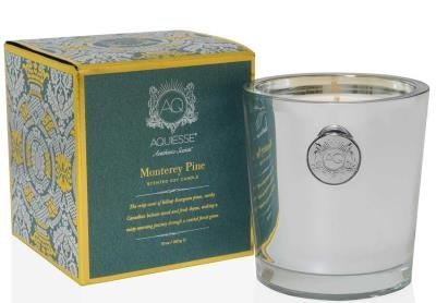 MONTEREY PINE 11oz Holiday Collection Gift Boxed Scented Soy Candle by Aquiesse