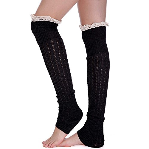 Zeagoo Womens Knitted Over Thigh-High Sock Knitted Boot Sock Leg Warmers