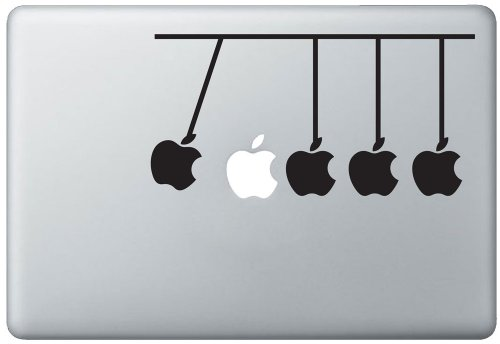Newton'S Cradle Apple Macbook Pro Vinyl Decal Sticker (Available For 11, 13, 15, 17 Inch And Air) front-417574