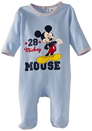 Disney Mickey Mouse HM0304 Baby Boy's Pyjamas Crystal Blue 3 Months