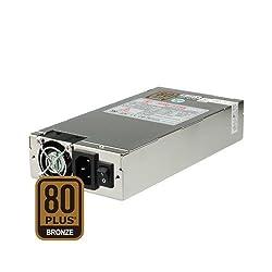 Dynapower SS-1U52ES 1U 500W Active PFC EPS 12V Short Depth 80 Plus Bronze Certified Server Power Supply