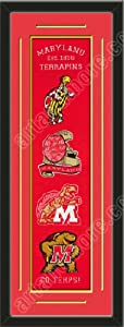 Heritage Banner Of Maryland Terrapins With Team Color Double Matting-Framed Awesome... by Art and More, Davenport, IA
