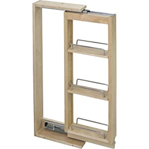 """6"""" Wide- Wall Cabinet Filler Pullout- 6"""" x 11-1/8"""" x 30"""""""