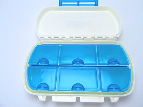 Pillbox Large Vitamin Boxes Jumbo Cases For Purse Or Pocket Pills Holder Container Daily Medication Travel Pillboxes Hard Durable Hinges With Locking Clasp So Medicine Won'T Fall Out In Your Purse Original Mighty Box