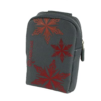 Fashion (Snowflake / Grey) Nylon Padded Case for RCA EZ205 Small Wonder Digital Camcorder