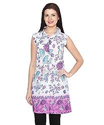 ELI Long Printed Multicoloured Western Party Wear Casual Women Shirt Top