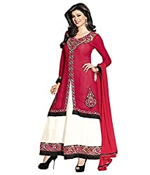 Ethics fashion Pink Georgette Dress Material