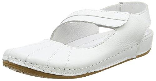 Andrea Conti0021562 - Sandali con zeppa Donna , Bianco (Weiß (weiß 001)), 38