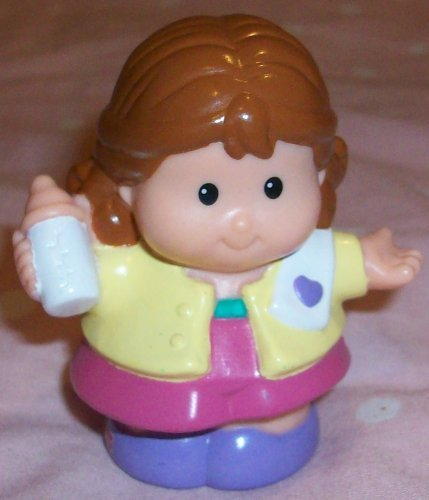 Fisher Price Little People Mom Linda With Bottle Replacement Figure Doll Toy front-778679