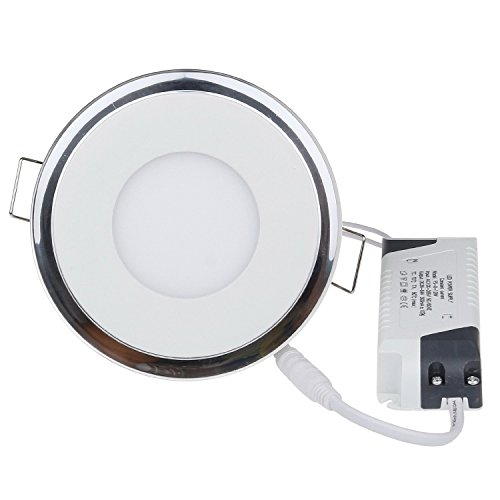 Sunsbell Led Acrylic Panel Light Downlight 10W Round Ceiling Down Light Spotlight Lamp Recessed Lighting Fixtureliving Room Lighting Bathroom Lamp Warm White Cut-Out Size 110Mm /3.4 Inch