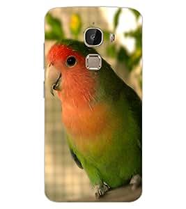 ColourCraft Cute Parrot Design Back Case Cover for LeEco Le 2