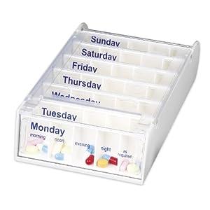 Anabox Weekly Pill Organiser - White