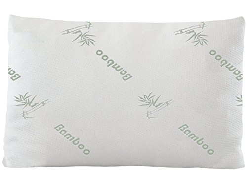Home With Comfort Bamboo Pillow With Incredibly Soft Poly Fill Inside - Luxury Hotel Quality Pillow with Removable Cool Bamboo Cover (How Many Days Is Standard Shipping)