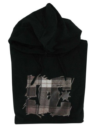 DC Men's Black Unravel Hoody - Black (Large)