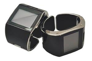 sWaP Incognito Bangle/Cuff Unlocked SIM Free Mobile Phone Watch - Piano Black/Chrome