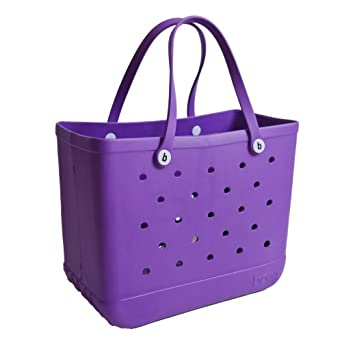 Bogg Bag Large Beach Tote and Everything Bag (Large, Houston we have a PURPLE bogg)