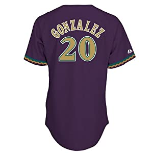 MLB Luis Gonzalez Arizona Diamondbacks #20 Majestic Cooperstown Collection Throwback... by Majestic