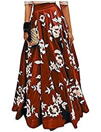 Vaankosh Fashion Women's Maroon Embroidered Skirt