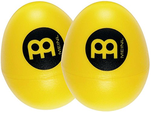 Meinl Percussion ES2-Y Set of Two Plastic Egg Shakers, Yellow - 1