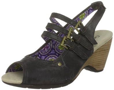 CAT Footwear Women's Jace Chocolate Brown Wedges P305511 3 UK