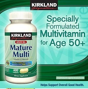 Kirkland Signature Mature Multi Vitamins & Minerals with Lycopene and Lutein 400 Tablets