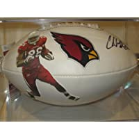 Chris Beanie Wells Arizona Cardinals Signed Autographed Logo Football Authentic Certified Jsa Coa with Free Case