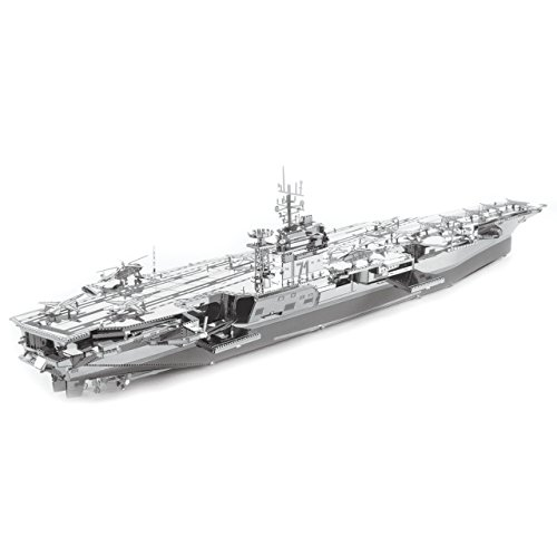 Fascinations ICONX USS Roosevelt CVN-71 Aircraft Carrier 3D Metal Model Kit (Aircraft Carrier Model Kits compare prices)