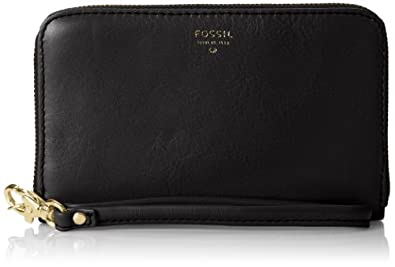 Fossil Sydney Zip Phone Wallet,Black,One Size