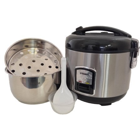 Oyama 10-Cup All Stainless-Steel Rice Cooker/Steamer/Warmer, Black (Tiger Rice Cooker Steam Tray compare prices)