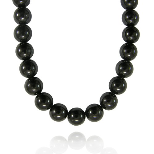 10mm Round Hematite Bead Necklace, 18+2