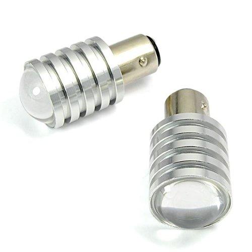 2 X Pcs 1157 Bay15D 7W Cree Q5 Led Pure White Car Trun Signal Brake Tail Reverse Light Lamp Bulb