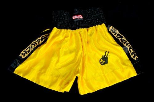 Sidekick Kids Boys Yellow Muay Thai Boxing Kickboxing Fight Shorts