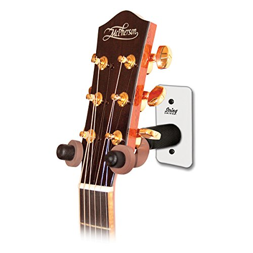 String Swing Metal Home & Studio Wide Guitar Hanger In White