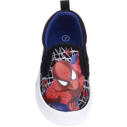 Marvel Spiderman Toddler Boys' Canvas Shoes (7) (Marvel Shoes Men compare prices)