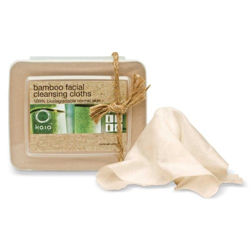 Kaia Naturals Juicy Bamboo Facial Cleansing Cloths, 30 Count