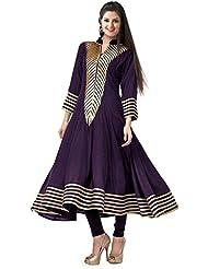 Mannat Fashion Designer Purple Cotton Printed Anarkali Kurti