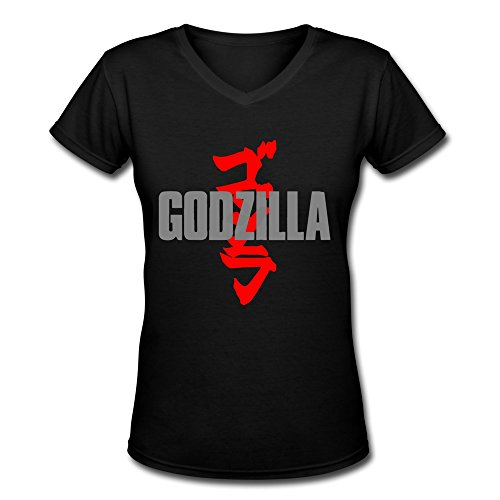 [AOPO Godzilla V-Neck Short Sleeve T Shirts For Women XX-Large] (Anguirus Costume)