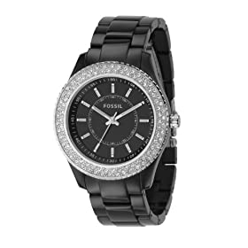 Fossil Stella Black Glitz Dial Watch: Fossil: Watches