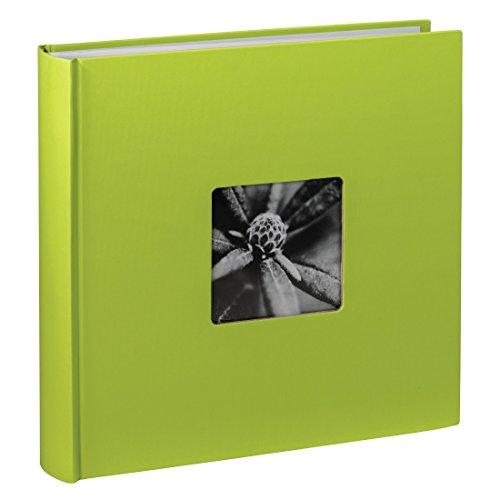 Jumbo Fotoalbum Fine Art 30 x 30 cm 100 Seiten 50 Blatt mit Ausschnitt für Bildeinschub hellgrün