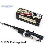 Generic <1.8 M : 2016 New Portable Folding Fishing Rod Sea Folding Fishing Rods Fish And Reel Mini Telescopic 420g 131cm 616