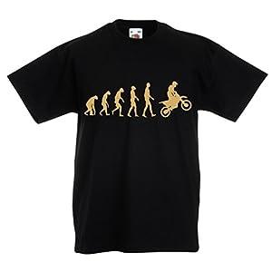 N4518K Kinder T-Shirt Evolution motorcyclist!