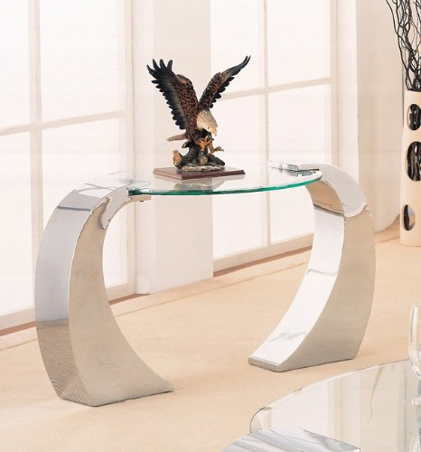 Retro Modern Style Chrome Plated Occasional End Table